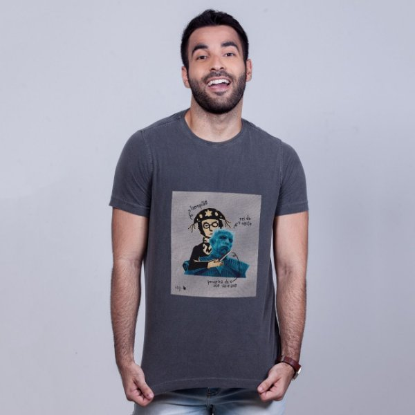 Camiseta Estonada Lampião Game of Thrones Chumbo