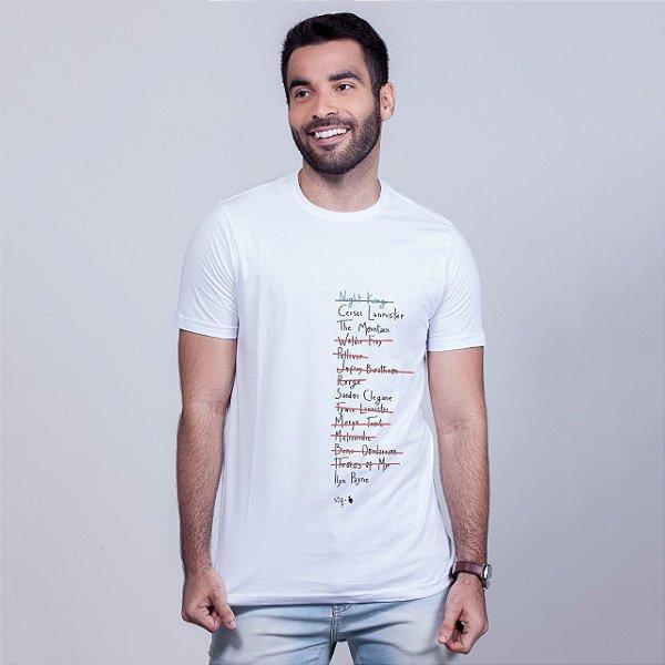 Camiseta Checklist Arya Branca