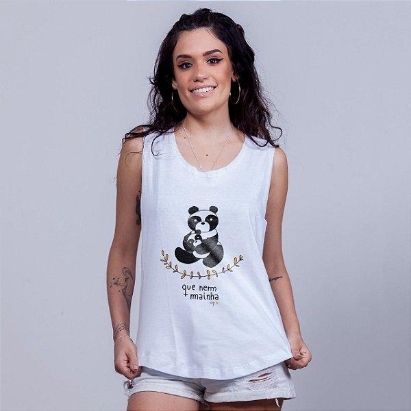 Regatão Que Nem Mainha Panda Branca
