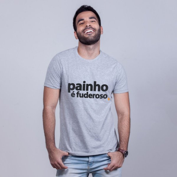 Camiseta Painho é Fuderoso Mescla
