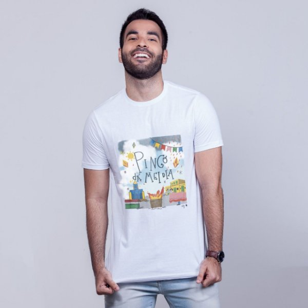 Camiseta Pingo da Mei Dia Branca