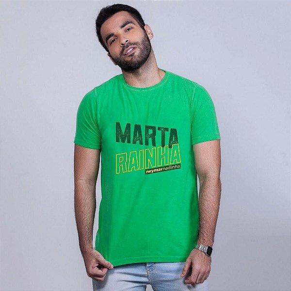 Camiseta Estonada Marta Rainha Verde Umazarte