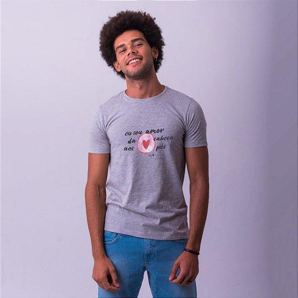 Camiseta Eu sou amor da Cabeça aos Pés Mescla
