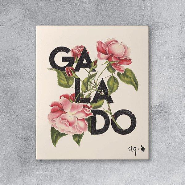 Quadro Galado Floral Amandrafts