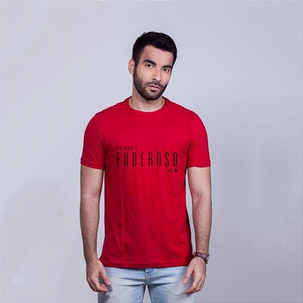 Camiseta Painho é Fuderoso STQ Vermelha