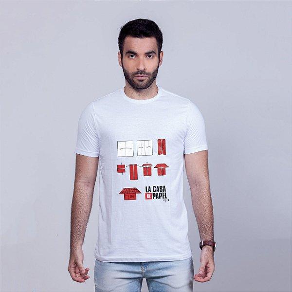 Camiseta La Casita de Papel Branca Amandrafts