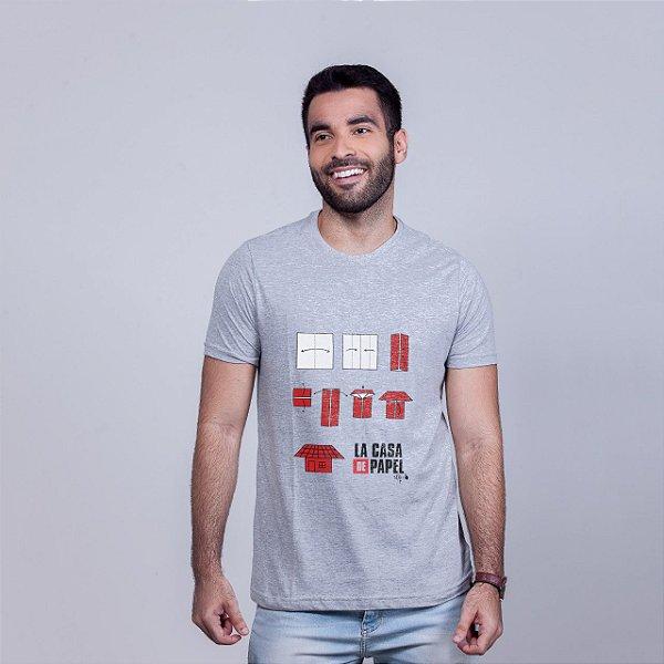 Camiseta La Casita de Papel Mescla Amandrafts