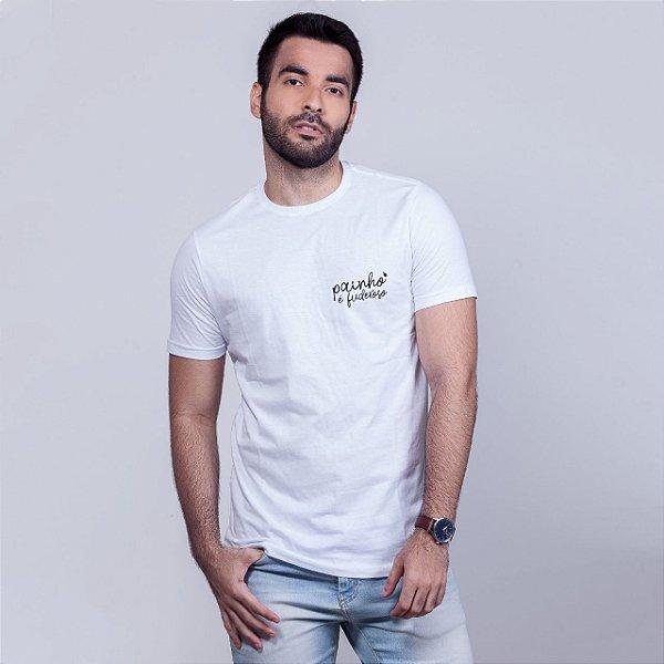 Camiseta Painho é Fuderoso Básica Branca