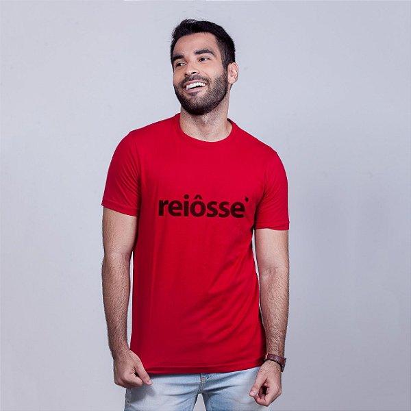 Camiseta Reiôsse Vermelha com Preto
