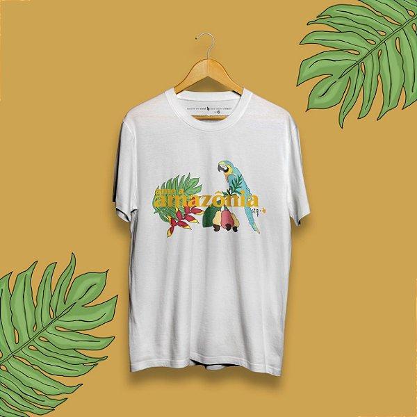 Camiseta Ame a Amazônia Branca