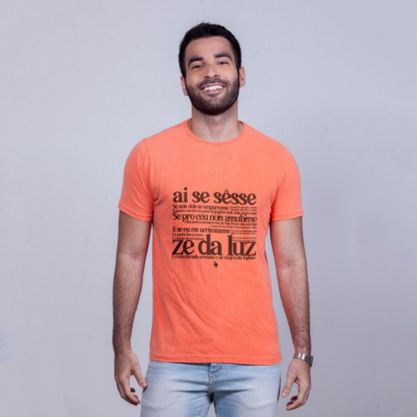 Camiseta Estonada Zé da Luz Laranja