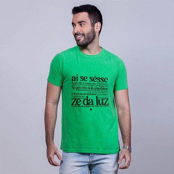 Camiseta Estonada Zé da Luz Verde