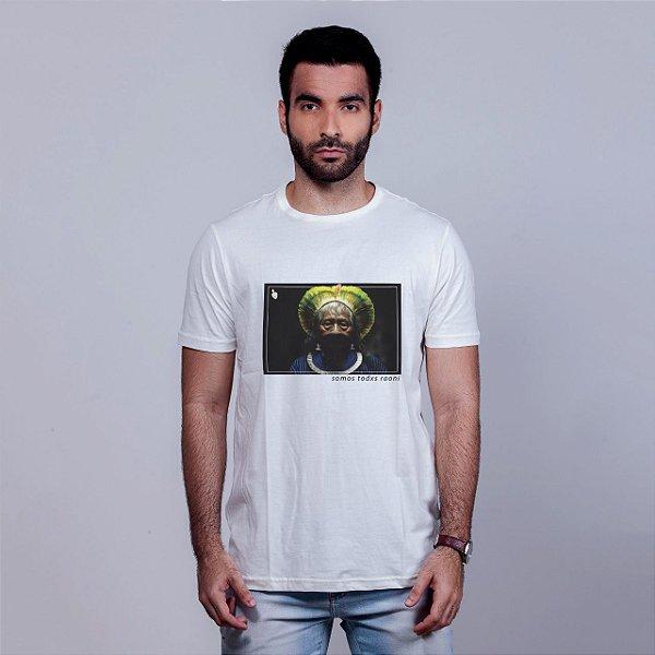 Camiseta Somos Todxs Raoni Branca