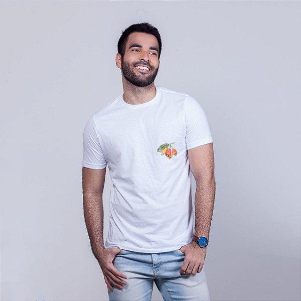 Camiseta Caju Minimal Branca