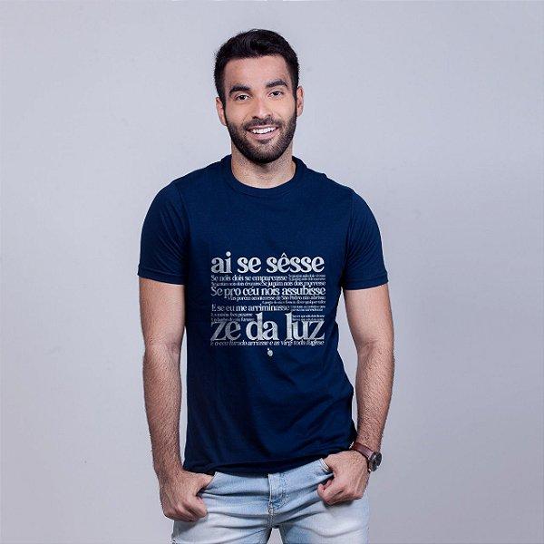 Camiseta Zé da Luz Azul Marinho