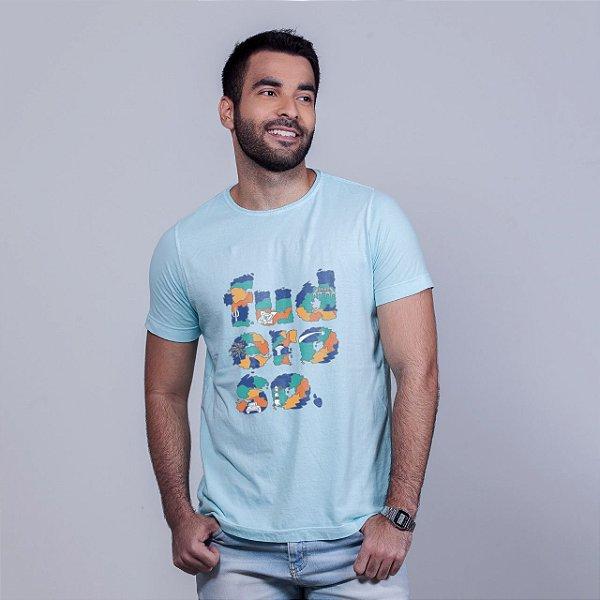 Camiseta Estonada Fuderoso Color Azul