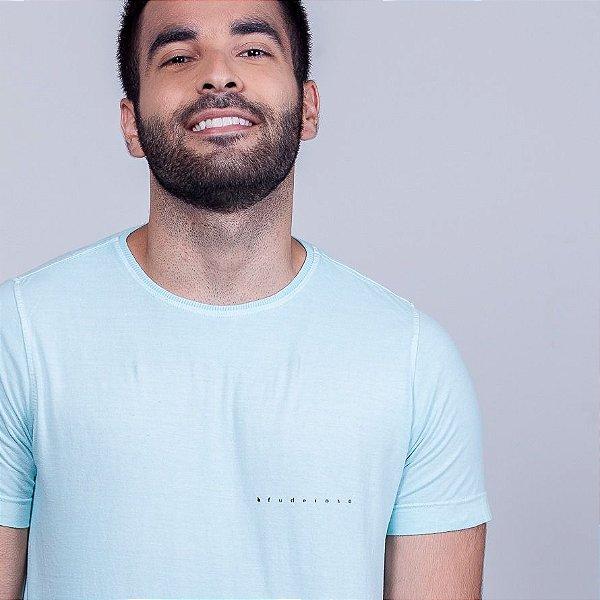 Camiseta Estonada Fuderoso Minimal Azul