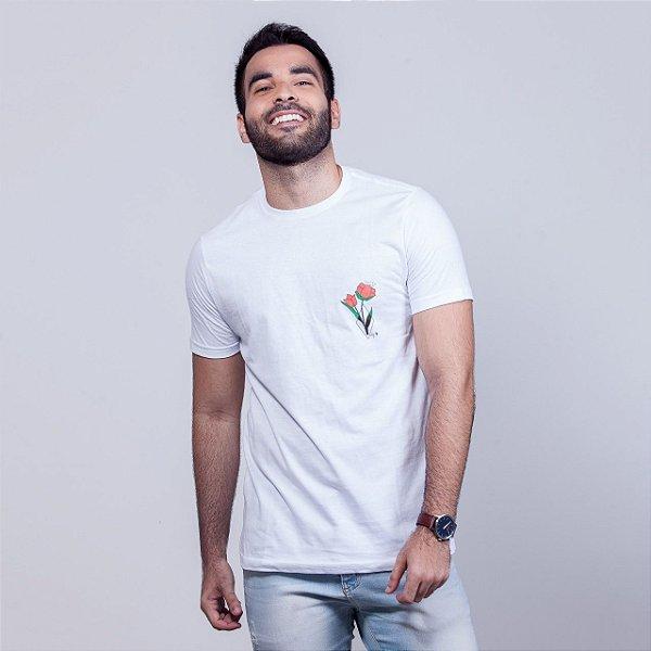 Camiseta Tulipa Branca