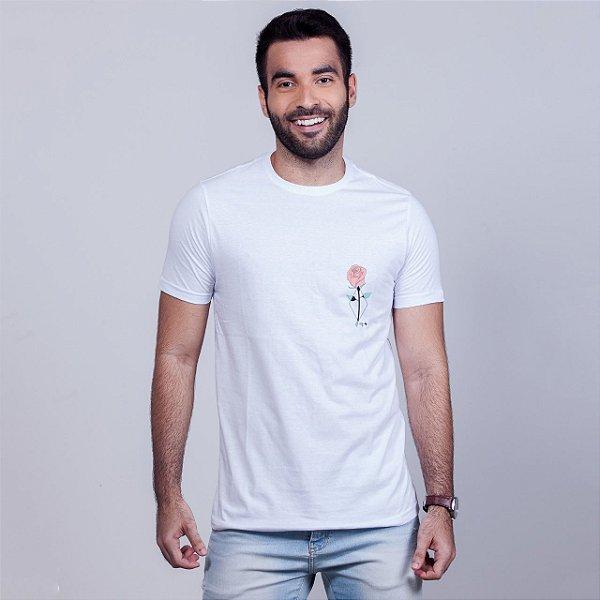 Camiseta Rosa Branca