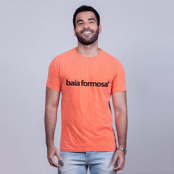 Camiseta Estonada Baía Formosa Laranja