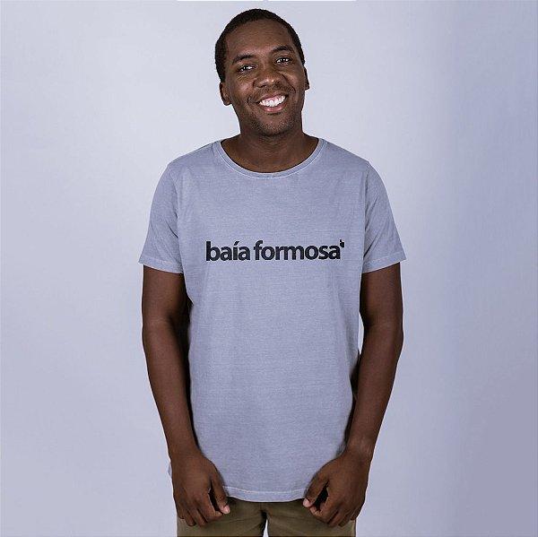 Camiseta Estonada Baía Formosa Cinza