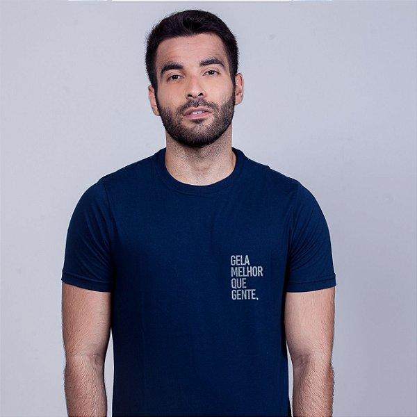 Camiseta Gela melhor que gente Azul Marinho