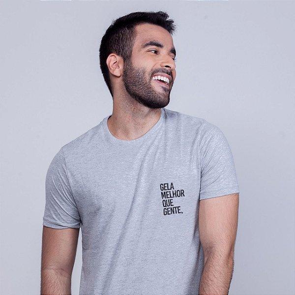 Camiseta Gela melhor que gente Mescla