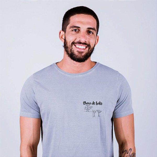 Camiseta Estonada Figurinha Show de Bola Cinza