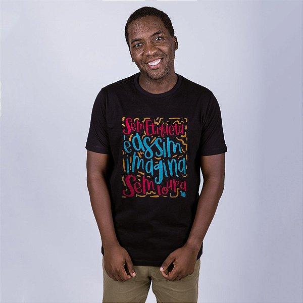 Camiseta Imagina Sem Roupa Preta