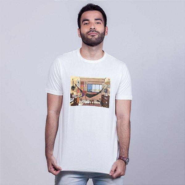 Camiseta Lo-Fi Natal Branca Amandrafts