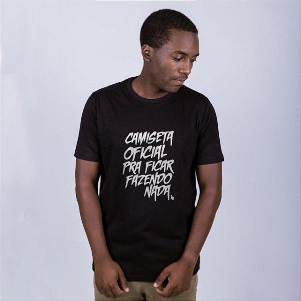 Camiseta Fazendo Nada Preta