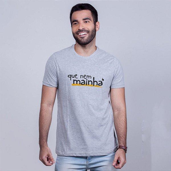 Camiseta Que Nem Mainha Mescla
