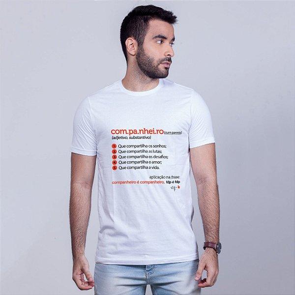 Camiseta Companheiro Dicionário Branca