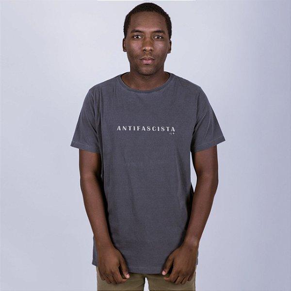 Camiseta Estonada Antifascista Chumbo