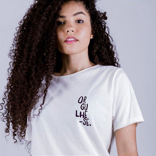 Camiseta A Fio Orgulhe-se Off White