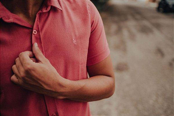 Camisa Linho de Botão Goiaba