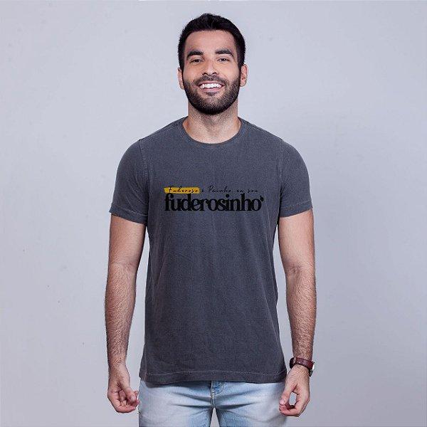 Camiseta Estonada Sou Fuderosinho 2020 Chumbo