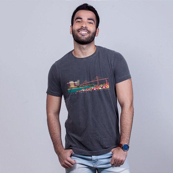 Camiseta Estonada Praia da Redinha Chumbo