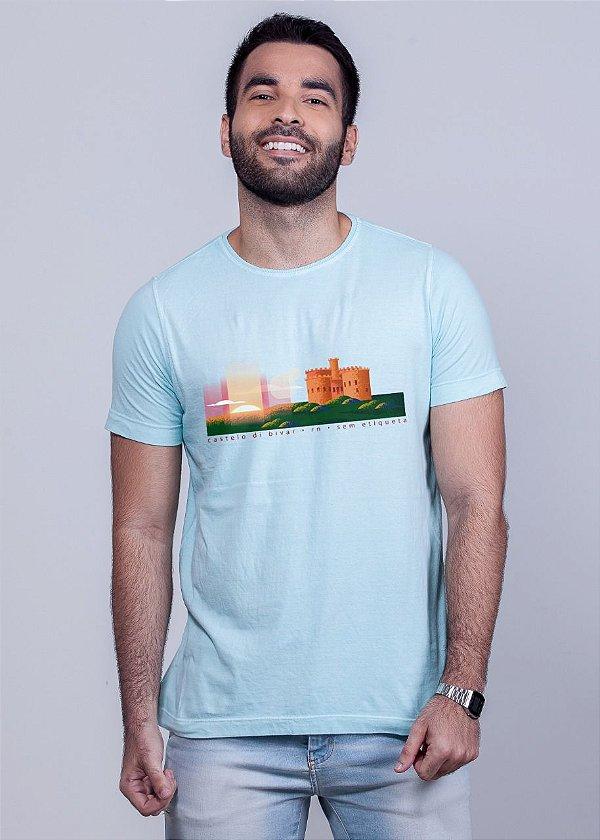 Camiseta Estonada Castelo di Bivar Azul Madeiro