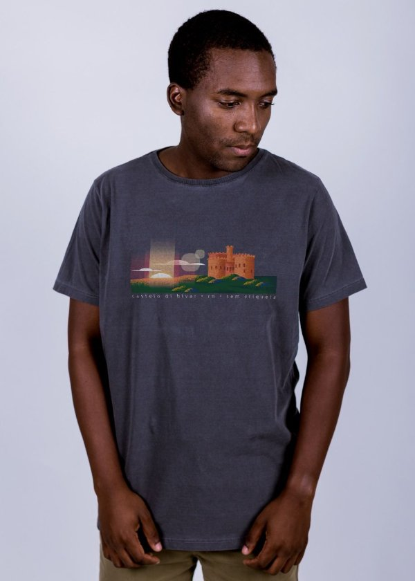 Camiseta Estonada Castelo di Bivar Chumbo