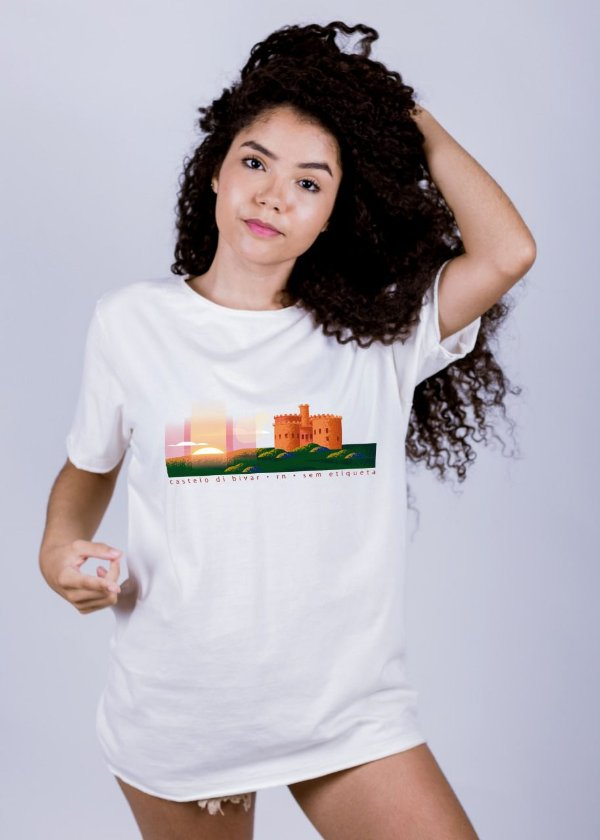 Camiseta Estonada Castelo di Bivar Off White