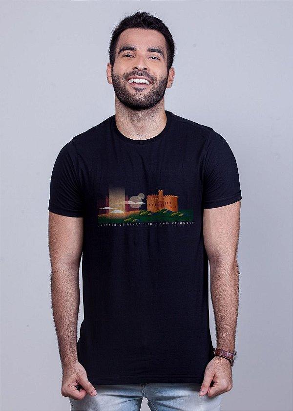 Camiseta Castelo di Bivar Preta