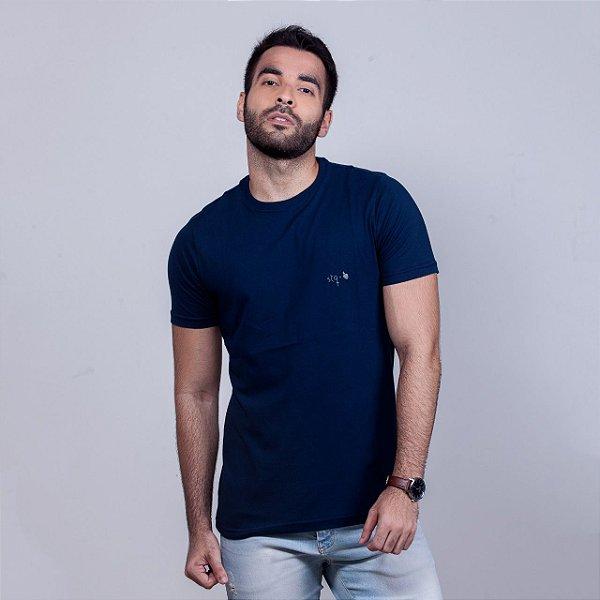 Camiseta Stq Básica Azul Marinho