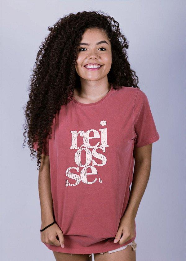 Camiseta Estonada Reiôsse Grunge Goiaba