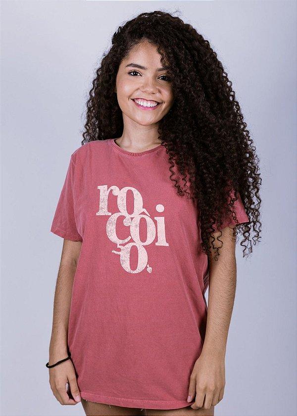 Camiseta Estonada Roçôio Grunge Goiaba