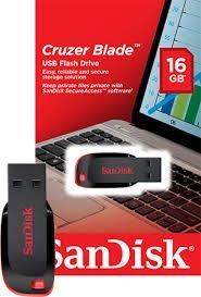 Pen Drive 16GB SanDisk USB Cruzer Blade ORIGINAL