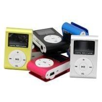 MP3 Player com visor e fone de ouvido