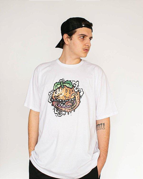Camiseta Orange House Laranja Melada Phhommies Branca