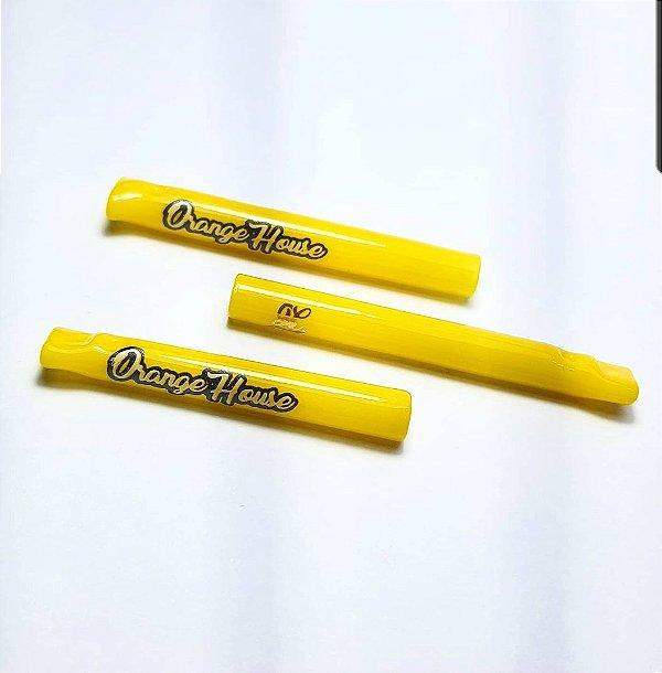 Piteira de Vidro Collab 2.0 Orange House Brasil X Glass Crew Inc. All Yellow