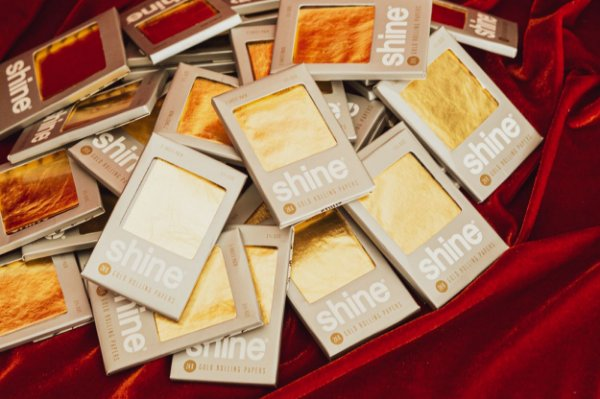 Shine Papers 24k 1 1/4 2 Sheet Pack